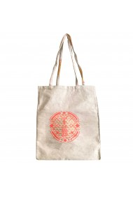 Tote bag Beige/Orange
